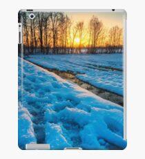 Snowy sunset iPad Case/Skin