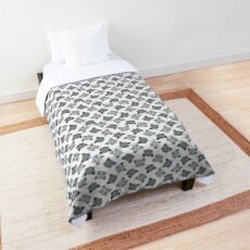 Gray Tabby Cat Face Graphic Comforter
