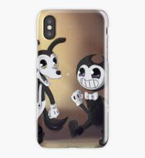 Lil' bendy and boris iPhone Case/Skin