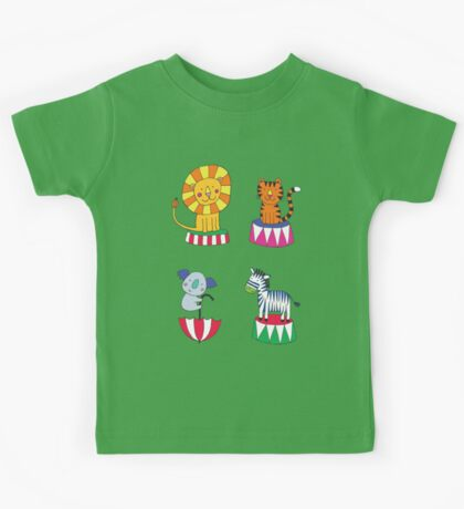 Circus Animals - sunshine yellow - Cute animal pattern by Cecca Designs Kids Clothes