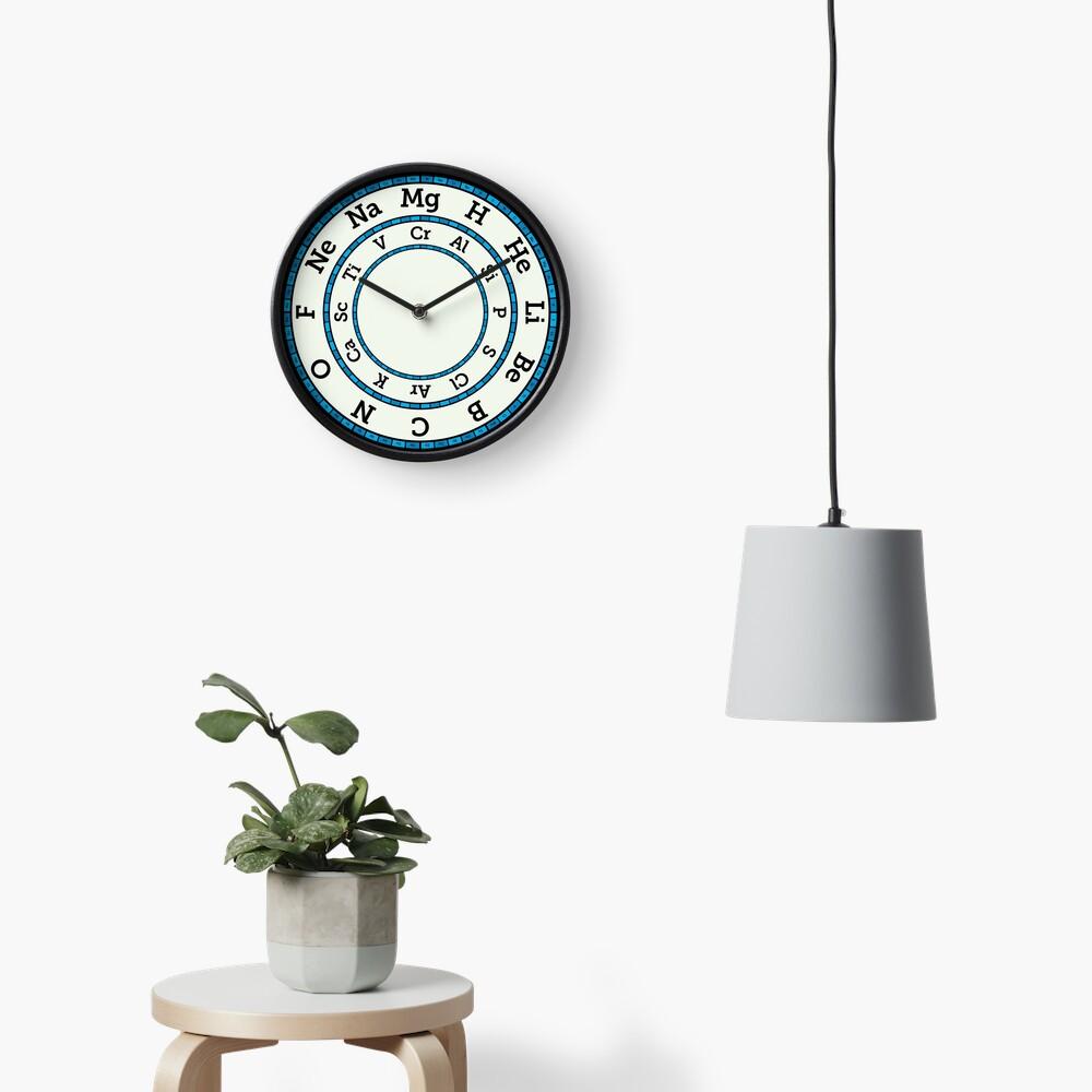 Chemical Elements Clock – Blue Clock