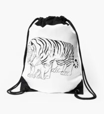 Big Kitty, Little Kitty Drawstring Bag