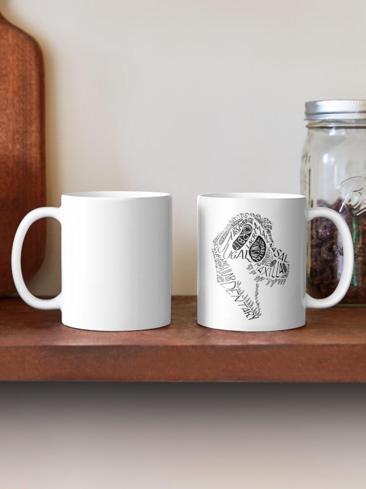 Alternate view of Black Calligram Tyrannosaur Skull Mug