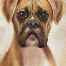 Painting of a Brown Boxer, Looking Directly at You by ibadishi