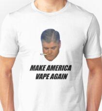 Sean Hannity - Make America Vape Again - NJoy Vape - With Text Unisex T-Shirt