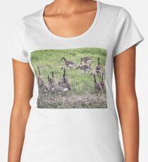 Canadian Geese Women's Premium T-Shirt