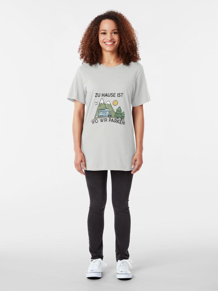 Alternative Ansicht von Camping zu Hause ist wo wir parken Geschenk Slim Fit T-Shirt