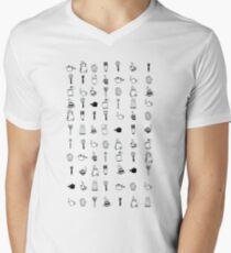 Kitchen utensil patterns Men's V-Neck T-Shirt