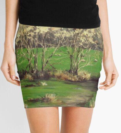 Winter Greens Mini Skirt