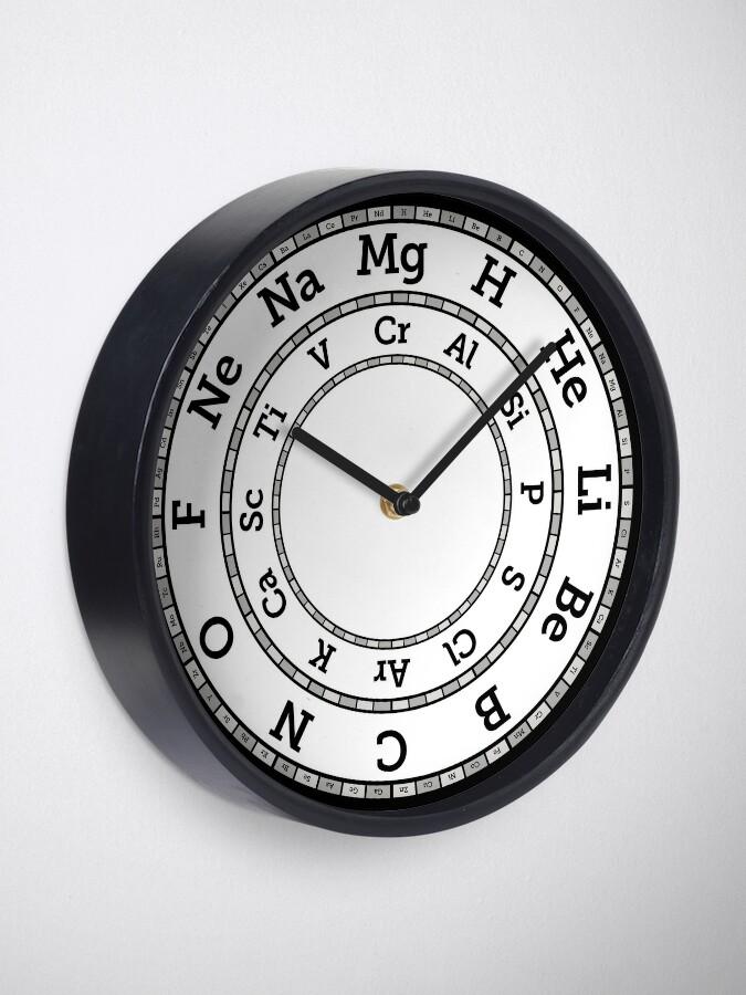 Alternate view of Chemical Elements Clock – Grey Clock