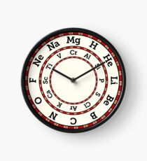 Chemical Elements Clock – Red Clock