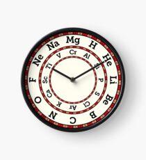 Chemische Elemente Uhr - Rot Uhr