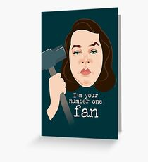 Number 1 fan Greeting Card