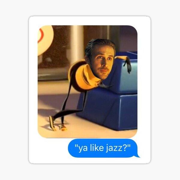 tu aimes le jazz? la la terre abeille film autocollant Sticker