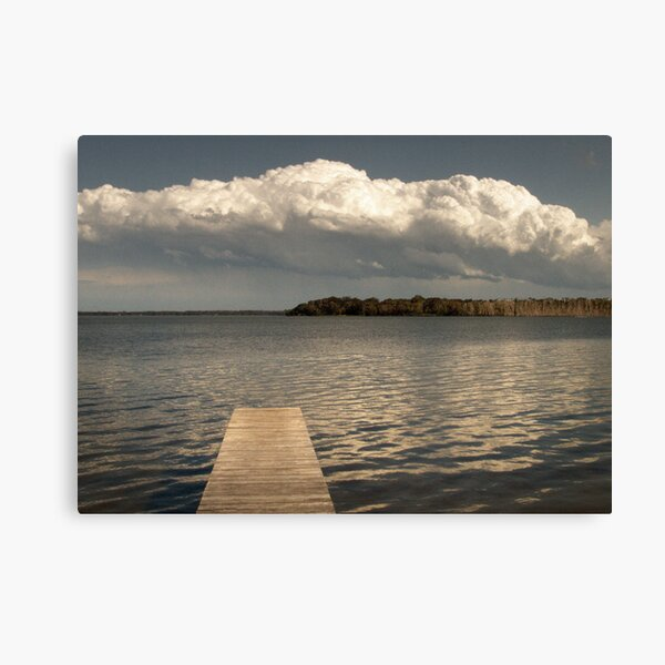 the lake after the rain Canvas Print