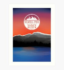 Three Peaks Series : Scafell Pike Art Print
