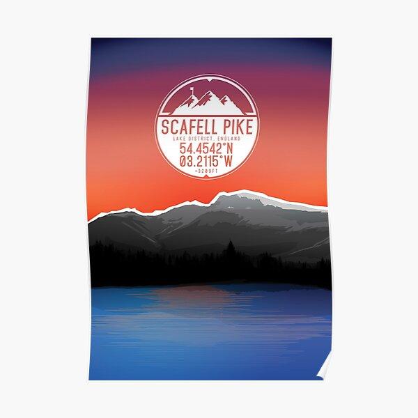 Three Peaks Series : Scafell Pike Poster