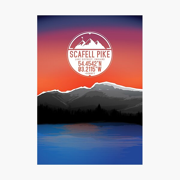 Three Peaks Series : Scafell Pike Photographic Print