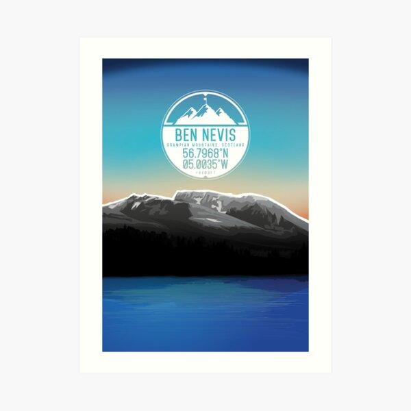 Three Peaks Series : Ben Nevis Art Print