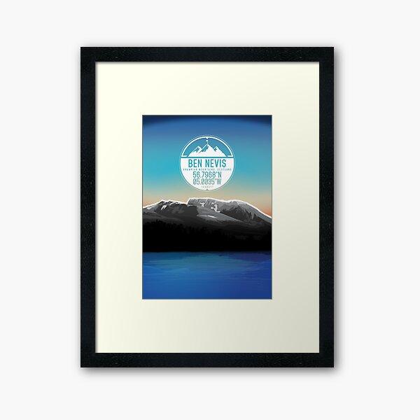Three Peaks Series : Ben Nevis Framed Art Print