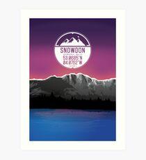 Three Peaks Series : Snowdon Art Print