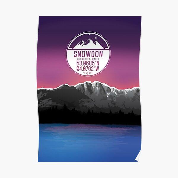 Three Peaks Series : Snowdon Poster