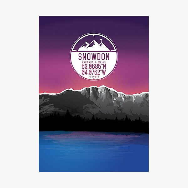 Three Peaks Series : Snowdon Photographic Print