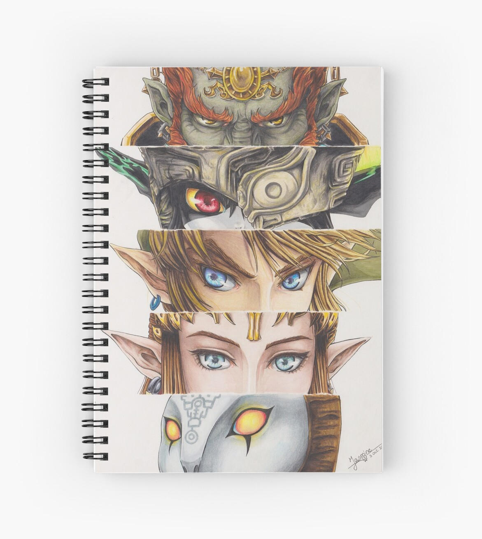 Cuadernos de espiral «Leyenda de Zelda: Ojos de la princesa ...