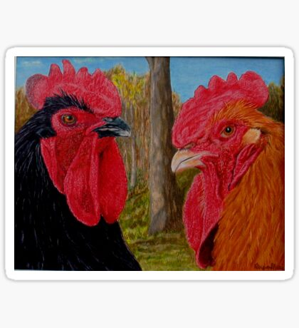 Roosters Sticker