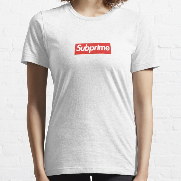 "Wallstreetbets ""SUBPRIME"" Box Logo Essential T-Shirt"