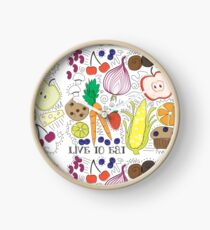 Live to Eat Clock