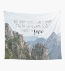Galatians 5:6 Wall Tapestry