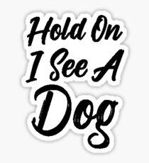 Pegatina Distracción del perro