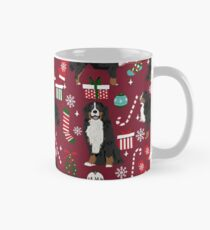 Bernese Mountain Dog christmas dog breed gifts mittens stockings presents candy canes Mug