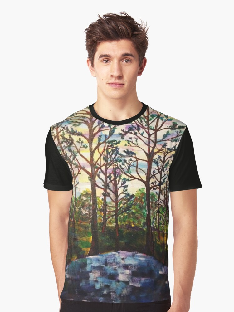 Impressionism Forest Graphic T-Shirt Front