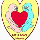 Let's Share Hearts by Mike HobsoN