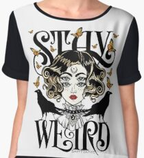 Rose and The Ravens {Stay Weird} Colour Version Women's Chiffon Top