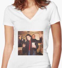 Mariska Hargitay & Chris Meloni SVU Women's Fitted V-Neck T-Shirt