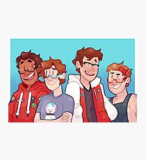 be more glasses - boys version Photographic Print