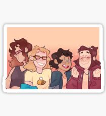 be more glasses - girls version Sticker