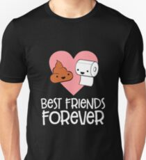 Poop and Toilet Paper BFF T-Shirt