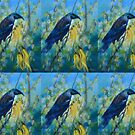 Tui in the Kowhai tree, Bird in spring tree by Laura Wilson