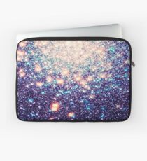 Lila Teal Galaxy Sterne Ombre Laptoptasche