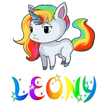Leony Unicorn Sticker by Bestseller-hot