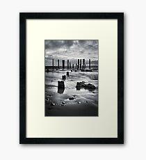 Port Willunga (Black and White) Framed Print