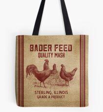 Sackleinen Vintage wie Huhn Futter Sack Tote Bag