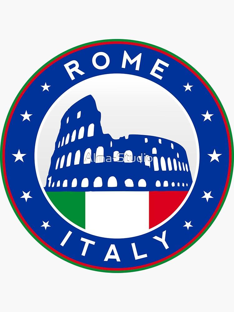 Rome, Italy, sticker, circle by Alma-Studio