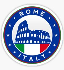 Rome, Italy, sticker, circle Sticker