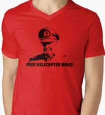 Free Helicopter Rides Men's V-Neck T-Shirt
