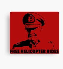 Free Helicopter Rides Canvas Print